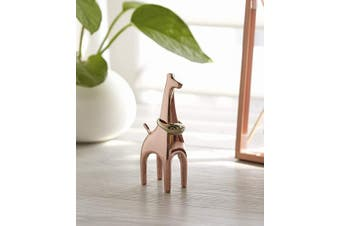 (1er, Giraffe) - Umbra Anigram Copper Ring Holder, Giraffe