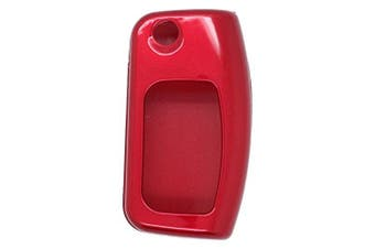(Red) - Metallic Paint Key Case Shell Cover fit for FORD Classic Flip Remote Key Red