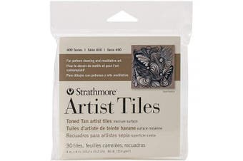 (1, CLASSIC) - Strathmore 105-977 400 Series Toned Tan Artist Tiles, 30 Sheets