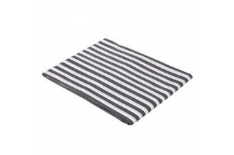 Grey Pin Stripes Crib Fitted Sheet