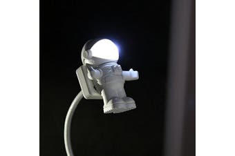 Astronaut LED Atmosphere Night Light Protect Eyes,for Reading,playing Computer,taking Care of Kids, White (White)