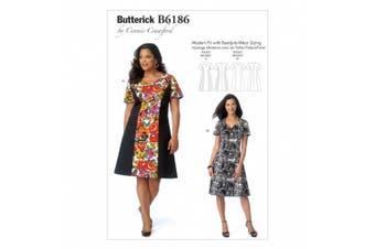 Butterick Patterns B6186WMN Misses'/Women's Dress Sewing Template, WOMAN (XXL-1X-2X-3X-4X-5X-6X)
