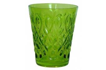 (Green) - Zrike Brands Teardrop Pressed Glass Juice, Green, Set of 4