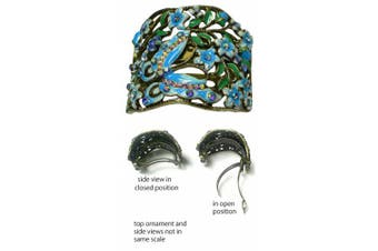 (aqua blue) - Crystal Butterfly Hair Holder Barrette YY86900-4blue
