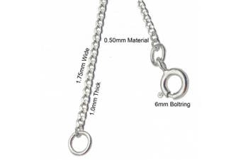 (2 inches) - ANTOMUS® Solid Sterling Silver Diamond Cut Curb 50(1.75mm Gauge) Extender Chain 2 INCH 4 INCH AND 6 INCH