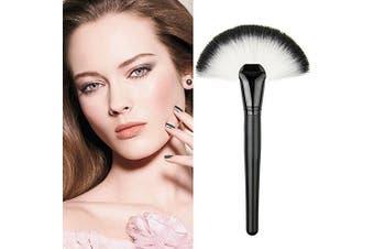 (As Shown) - ACE Professional Single Makeup Brush Blush / Powder Sector Makeup Brush Soft Fan Brush Foundation Brushes Make Up Tool