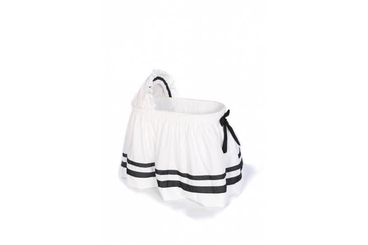 (Black) - Baby Doll Bedding Modern Hotel Style II Bassinet Skirt, Black