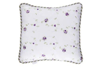 Glenna Jean Penelope Floral Embroidery Pillow, Lavender/Mint/White