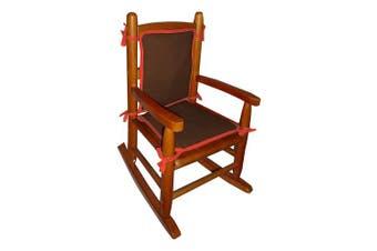 (Brown/Orange) - Baby Doll Bedding Solid Reversible Junior Rocking Chair Pad, Brown/Orange