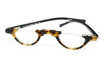 (1.5) - eyebobs Topless, 2110 F9, Tortoise and Black Reading Glasses - Multiple Magnifications