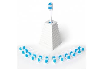 (Blue) - 13Clean - Manual Toothbrush with a New Head Each Month.