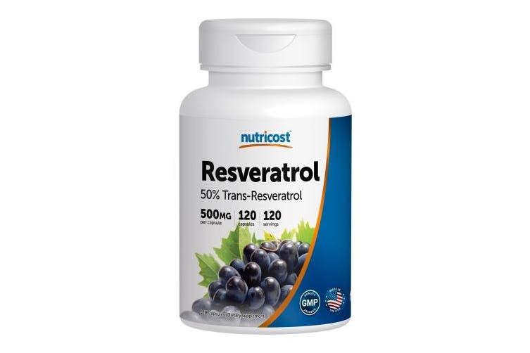 1 Bottle Nutricost Resveratrol 500mg 120 Capsules 50 Trans