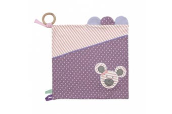 (Ballerina Mouse) - Organic Farm Buddies Hypoallergenic Activity Blanket, Ballerina Mouse