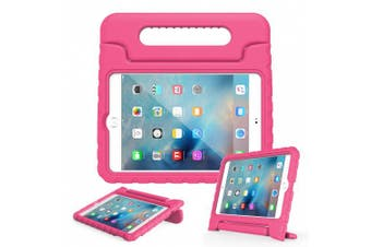 (iPad Mini 4, Magenta) - Apple iPad Mini 4 Case - MoKo Kids Shock Proof Convertible Handle Light Weight Super Protective Stand Cover Case for Apple iPad Mini 4 2015 Tablet, MAGENTA