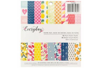 American Crafts Pebbles Jen Hadfield Everyday 15cm X 15cm 36 Sheet Paper Pad