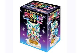 (Eule, Sequin Art 3D) - Sequin Art 3D, Owl, Sparkling Arts and Crafts 3D Art Kit; Creative Crafts for Adults and Kids