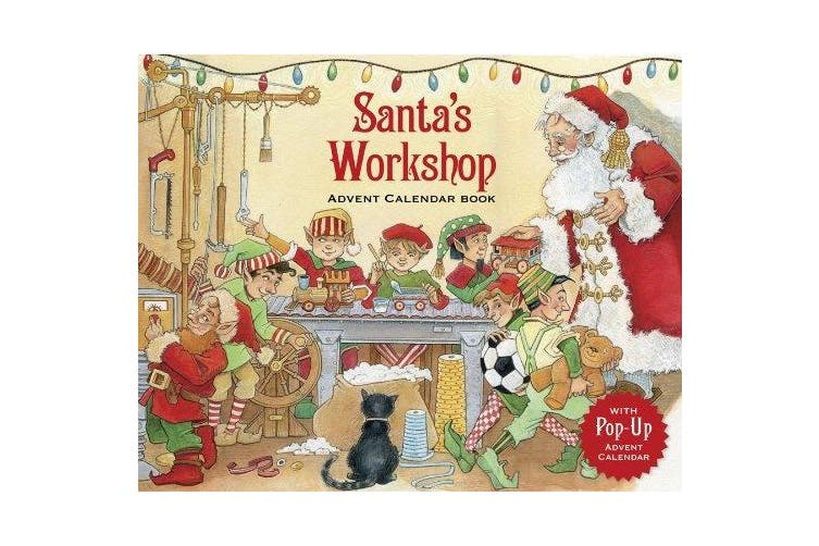 Caspari Santa's Workshop Story Book Advent Calendar