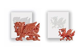 Silicone Moulds - Large And Small Welsh Dragons - Food Safe
