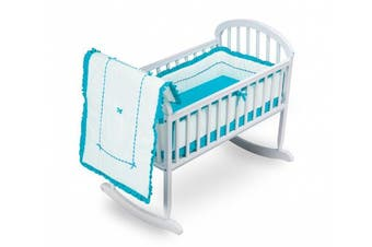 (Aqua) - Baby Doll Bedding Unique Cradle Bedding Set, Aqua