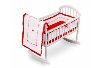 (Red) - Baby Doll Bedding Unique Cradle Bedding Set, Red