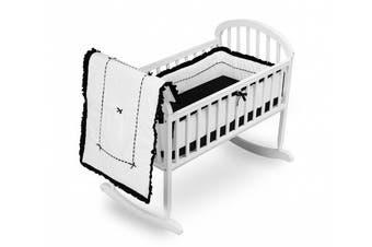 (Black) - Baby Doll Bedding Unique Cradle Bedding Set, Black