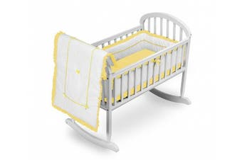 (Yellow) - Baby Doll Bedding Unique Cradle Bedding Set, Yellow