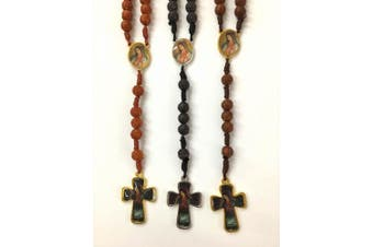 Bulk Lot Set of 12 Black/brown Rose Shape Wood Beads Lady of Guadalupe / Lady of Guadalupe Rosary /Religious Favour/baptism Favour/memorial Rosary with Gift Bags