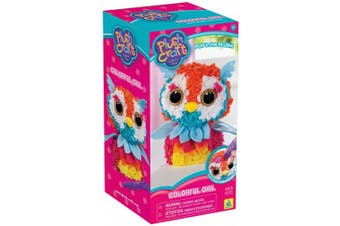 The Orb Factory PlushCraft Colourful Owl 3D Soft Craft by The Orb Factory