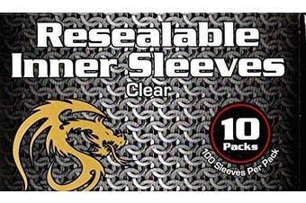 1000 BCW Resealable Inner Card Sleeves for Double Sleeving Gaming Cards