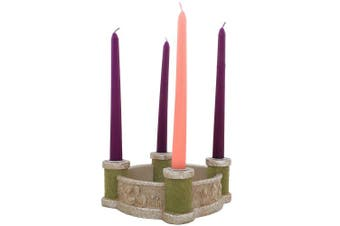 "Abbey Press ""Bethlehem Scenes"" Advent Candleholder - Faith Christmas 56116K-ABBEY"