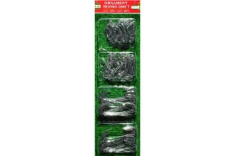 (300 Silver) - ALAZCO Christmas Holiday Ornament Hanger Hooks (300 Silver) Hang Ornaments from Trees, Garlands and Wreaths