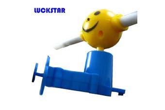 LUCKSTAR(TM) Creative Shining Luminous Musical Windmill Music Light Up Flashing Led Smiley Hand Push Windmill Puzzle Kids Children Toys