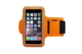 (Orange) - Running, Jogging, Gym, Workout Armband + Key Holder for Apple iPhone 6 and 6S (12cm ) in Orange