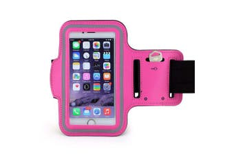 (Pink) - Running, Jogging, Gym, Workout Armband + Key Holder for Apple iPhone 6 and 6S (12cm ) in Pink