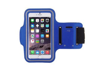 (Blue) - Running, Jogging, Gym, Workout Armband + Key Holder for Apple iPhone 6 and 6S (12cm ) in Blue