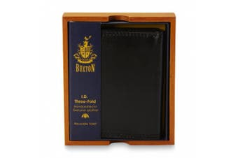 (One Size, Black) - Men's ID Trifold Wallet
