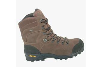 (9 UK, Brown) - AIGLE Altavio High ankle Gore Tex Waterproof Hiking Boots - hard wearing sole
