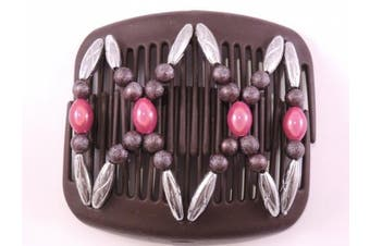 African Butterfly hair clip 1218 11cm Brown comb