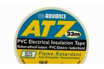 ADVANCE 19mm x 33m Standard PVC Tape WHITE