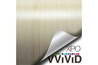 VVIVID White Maple Wood Grain Faux Finish Textured Vinyl Wrap Film for Home Office Furniture DIY Easy to Instal No Mess 0.6m x 120cm