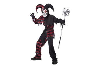 (10-12, One Color) - California Costumes Sinister Jester Costume, One Colour, 10-12