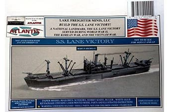 SS Lane Victory Paper Model Atlantis Toy and Hobby