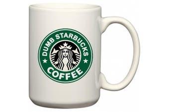 (440ml) - Nathan For You Dumb Starbucks Coffee Mug or Tea Cup by BeeGeeTees (440ml)