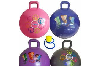 (Gray) - Hippity Hop 45 Cm / 18 Inch Diameter Including Free Foot Pump, For Children Ages 3-6 Space Hopper, Hop Ball Bouncing Toy - 1 Ball