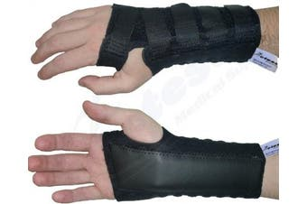 (Extra Large Right (19-22 cm)) - Actesso Stomatex Wrist Support Splint - Wrist Stabiliser - Ideal for Reducing Pain from Carpal Tunnel, Sprains, Wrist Injury or Arthritis. Medically Approved