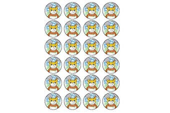 24 Stampy Cat Edible Wafer Paper Cup Cake Toppers