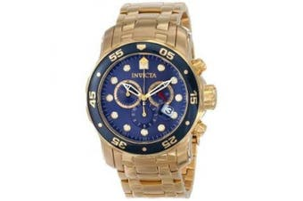 Invicta Men's 0073 Pro Diver Collection Chronograph 18k Gold-Plated Watch
