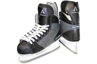 (1 Y, Black) - American Athletic Shoe Boy's Ice Force Hockey Skates