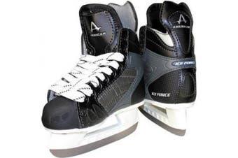 (11 Y, Black) - American Athletic Shoe Boy's Ice Force Hockey Skates