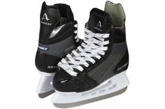(10, Black) - American Athletic Shoe Boy's Ice Force Hockey Skates, Black, 10